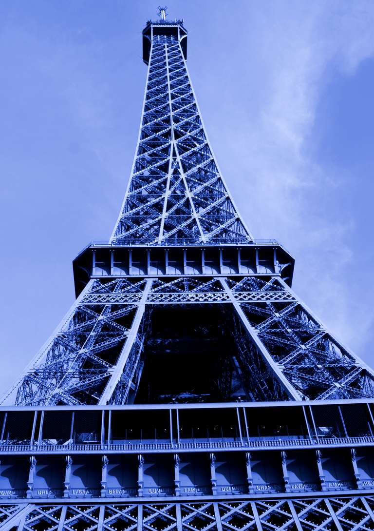 The Eiffel Tower in Blue