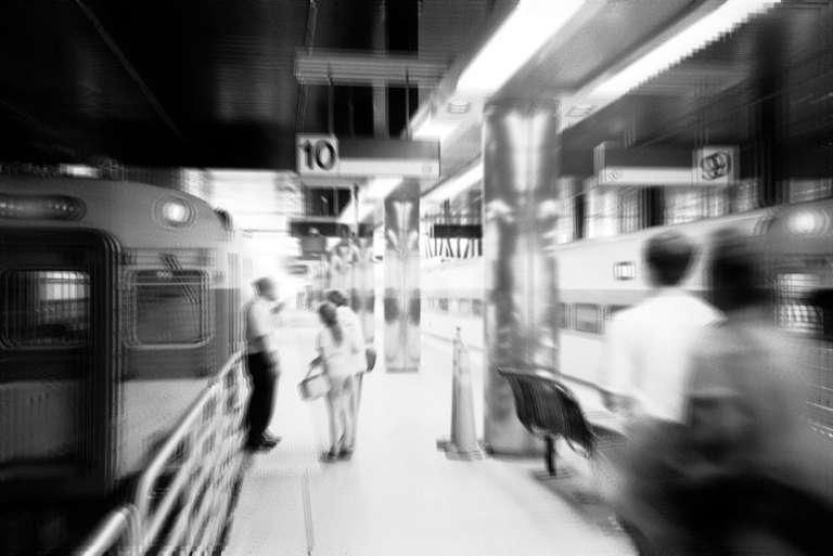 Inside a Bostonian train station.